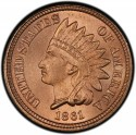 1861 Indian Head Pennies