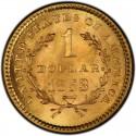 1853 Liberty Head Gold $1 Coin Value