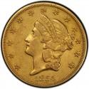 1854 Liberty Head Double Eagle