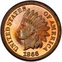 1866 Indian Head Pennies