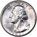 1961 Washington Quarter Value