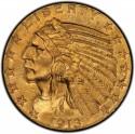 1913 Indian Head $5 Half Eagle