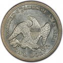 1850 Seated Liberty Silver Dollar Values