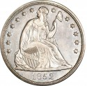 1852 Seated Liberty Silver Dollar