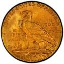 1929 Indian Head $5 Half Eagle Value