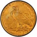 1910 Indian Head $5 Half Eagle Value