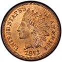 1871 Indian Head Pennies