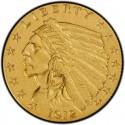 1912 Indian Head $2.50 Quarter Eagle