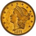 1871 Liberty Head Double Eagle