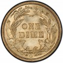 1901 Barber Dime Value