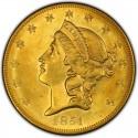 1851 Liberty Head Double Eagle