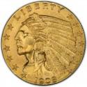 1908 Indian Head $2.50 Quarter Eagle