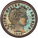 1896 Barber Dime