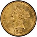 1847 Liberty Head $10 Gold Eagle