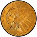 1910 Indian Head $5 Half Eagle