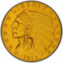 1915 Indian Head $2.50 Quarter Eagle