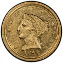 1846 Liberty Head $2.50 Gold Quarter Eagle Coin