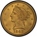 1843 Liberty Head Half Eagles