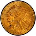 1929 Indian Head $5 Half Eagle