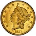 1857 Liberty Head Double Eagle