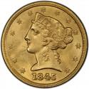 1845 Liberty Head Half Eagles