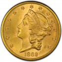 1862 Liberty Head Double Eagle