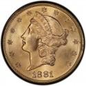 1881 Liberty Head Double Eagle