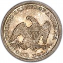 1856 Seated Liberty Silver Dollar Values