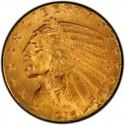 1916 Indian Head $5 Half Eagle