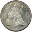 1850 Seated Liberty Silver Dollar