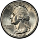 1943 Washington Quarter Value