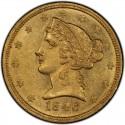 1846 Liberty Head Half Eagles