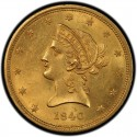 1840 Liberty Head $10 Gold Eagle