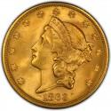 1863 Liberty Head Double Eagle