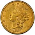 1866 Liberty Head Double Eagle