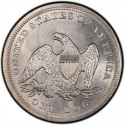 1849 Seated Liberty Silver Dollar Values