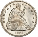 1865 Seated Liberty Silver Dollar