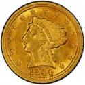 1844 Liberty Head $2.50 Gold Quarter Eagle Coin