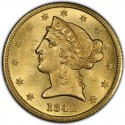 1842 Liberty Head Half Eagles