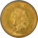 1855 Small Head Indian Princess Gold Dollar