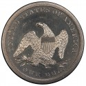1858 Seated Liberty Silver Dollar Values