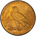 1908 Indian Head $5 Half Eagle Value