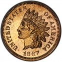 1867 Indian Head Pennies