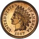 1867 Indian Head Pennies
