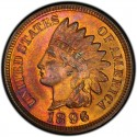 1896 Indian Head Pennies
