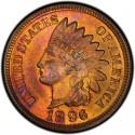 1896 Indian Head Pennies