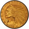 1914 Indian Head $5 Half Eagle
