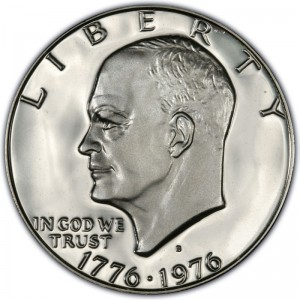 1976 Eisenhower Dollar Values and Prices - Past Sales | CoinValues com