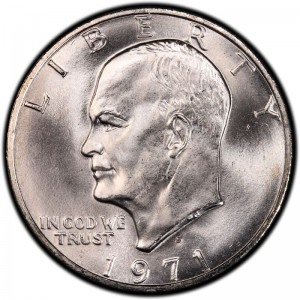 1971 Eisenhower Dollar Values and Prices - Past Sales